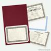 9 1/2 x 12 Certificate Holders Burgundy Linen