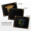 9 1/2 x 12 Certificate Holders Black Linen - Gold Foil Floral Border