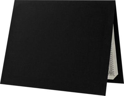 9 1/2 x 12 Certificate Holders Black Linen