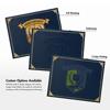 9 1/2 x 12 Certificate Holders Nautical Blue Linen - Gold Foil Floral Border