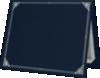 9 1/2 x 12 Certificate Holders Nautical Blue Linen - Silver Foil Floral Border