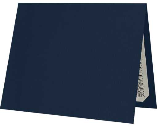 9 1/2 x 12 Certificate Holders Nautical Blue Linen