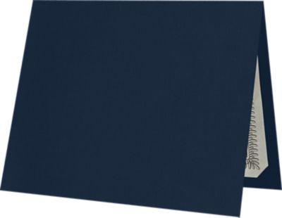 9 1/2 x 12 Certificate Holders Nautical Blue Linen