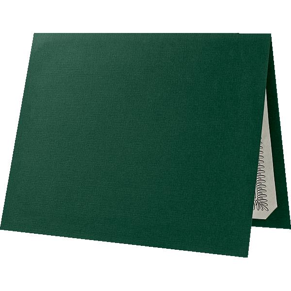 Blank 9 1/2 x 12 Certificate Holders | Green Linen | Folders.com