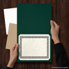 9 1/2 x 12 Certificate Holders Green Linen