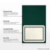 9 1/2 x 12 Certificate Holders Green Linen