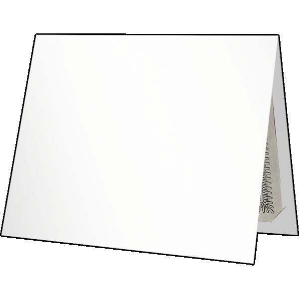 9 1/2 x 12 Certificate Holders White Gloss