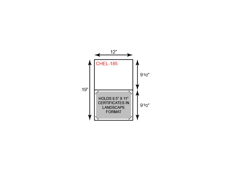 Economy Certificate Holder - Landscape Orientation (Horizontal)