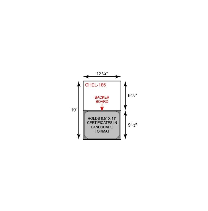 Certificate Holder  - Landscape Orientation w/ Mounting Board (Vertical)
