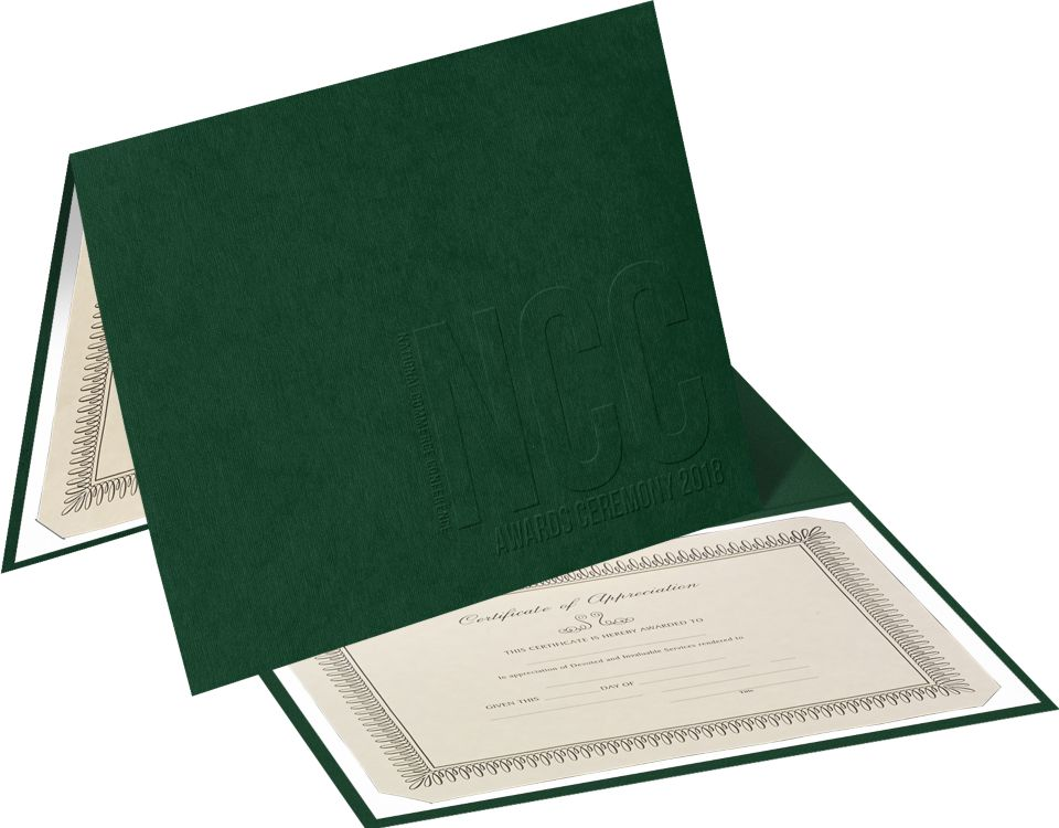 Certificate Holder  - Landscape Orientation w/ Mounting Board (Vertical)