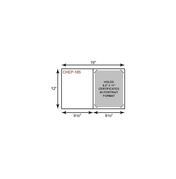 Economy Certificate Holder - Portrait Orientation (Vertical)