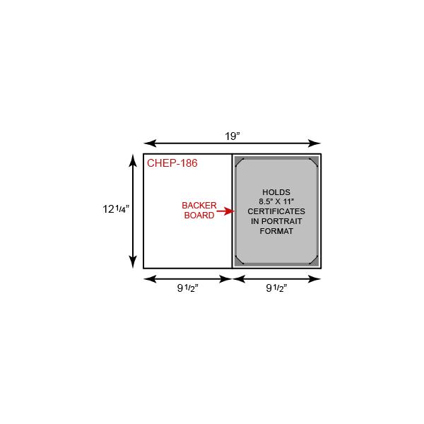 Certificate Holder  - Portrait Orientation w/ Mounting Board (Horizontal)