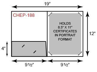 Certificate Holder  - Portrait Orientation w/ One Pocket