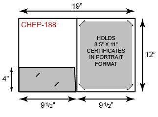 Certificate Holder  - Portrait Orientation w/ One Pocket
