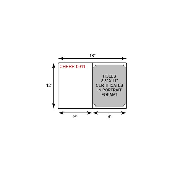Economy Certificate Holder  - Portrait Orientation w/ Rounded Corners