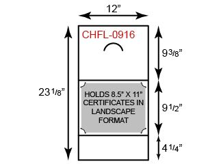 Certificate Holder  - Landscape Orientation w/ Fold Notch