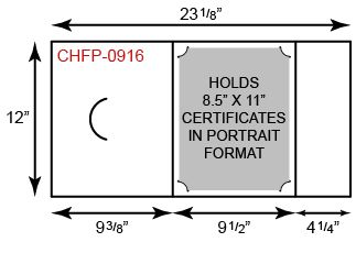 Certificate Holder  - Portrait Orientation w/ Fold Notch