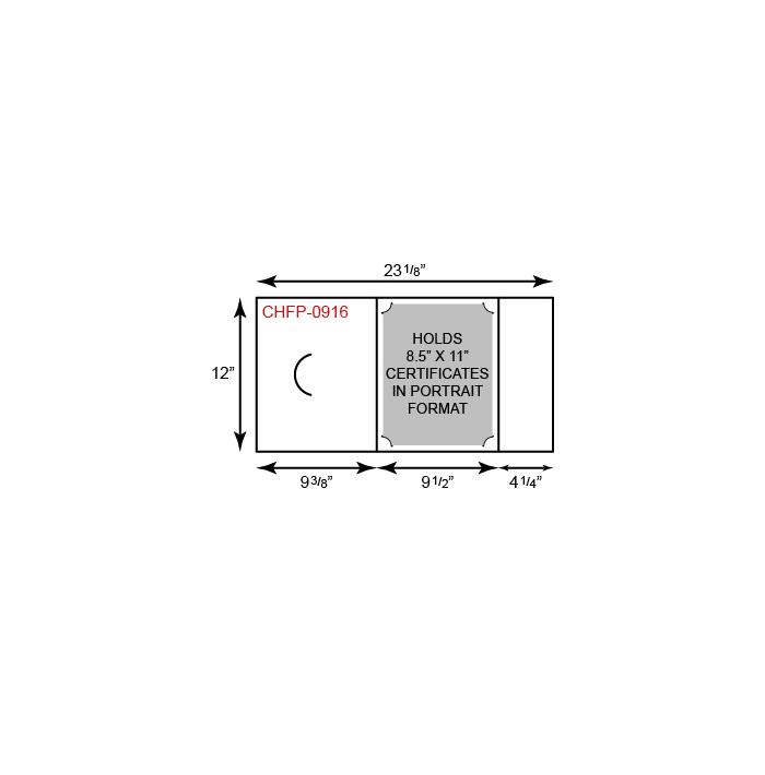Certificate Holder  - Portrait Orientation w/ Fold Notch