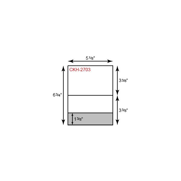 "Card Holder - Vertical Orientation w/ Bottom Pocket (5 1/8"" x 3 3/8"")"
