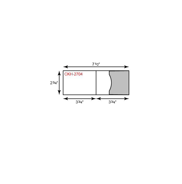 "Card Holder - Horizontal Orientation w/ Side Pocket (2 3/4"" x 3 3/4"")"