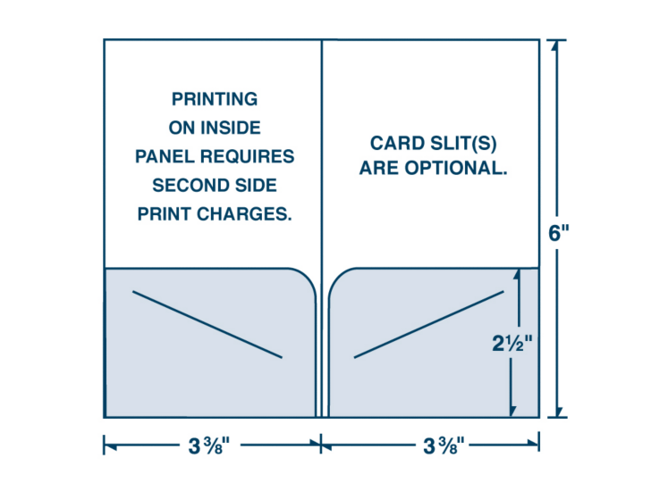 "Card Holder - Two Pocket (3 3/8"" x 6"")"