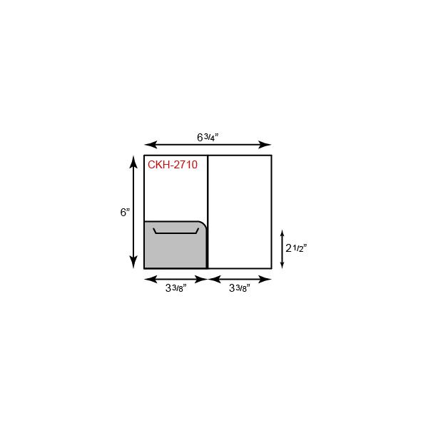 """Card Holder - Left Pocket(3 3/8"""" x 6"""")"""