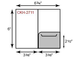 """Card Holder - Right Pocket (3 3/8"""" x 6"""")"""