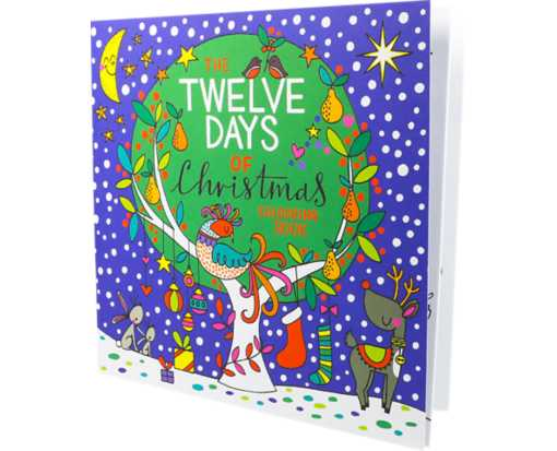 8 x 8 Coloring Book (12 pages) Twelve Days of Christmas