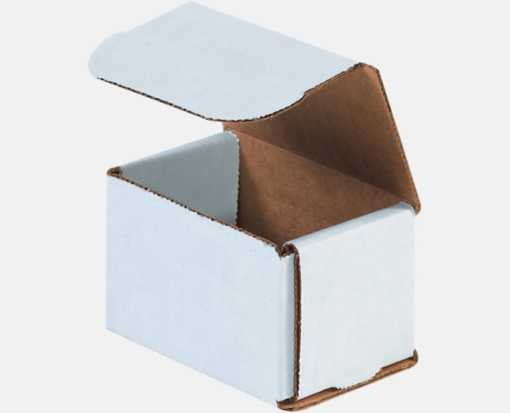 Corrugated Mailers - 3 x 2 x 2 White