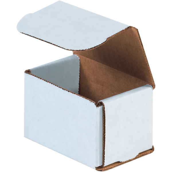 Corrugated Mailers - 3 x 2 x 2 White