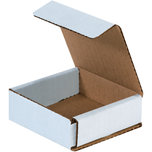 Corrugated Mailers - 3 x 3 x 1 White