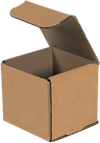Corrugated Mailers - 3 x 3 x 3 Brown Kraft