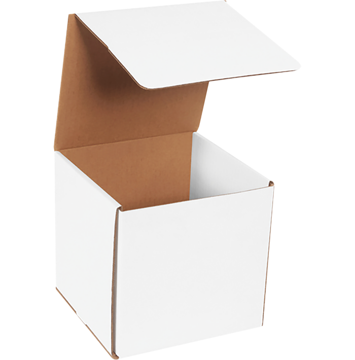 Corrugated Mailers - 7 x 7 x 7 White