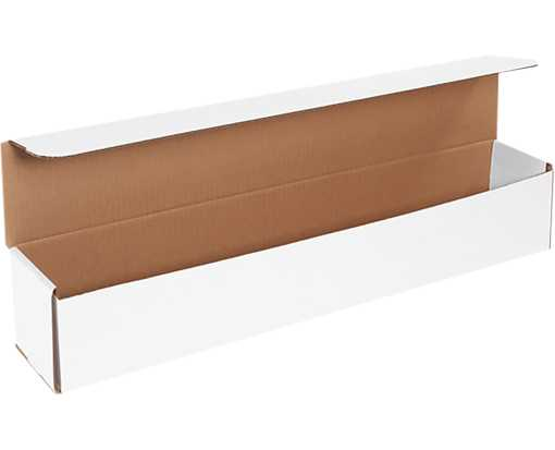Corrugated Mailers - 24 x 4 x 4 White