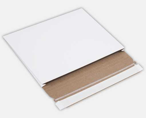 10 x 7 3/4 x 1 Gusseted Flat Mailers White