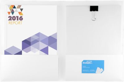 Capacity Folders (9 1/2 x 12) 100lb. White