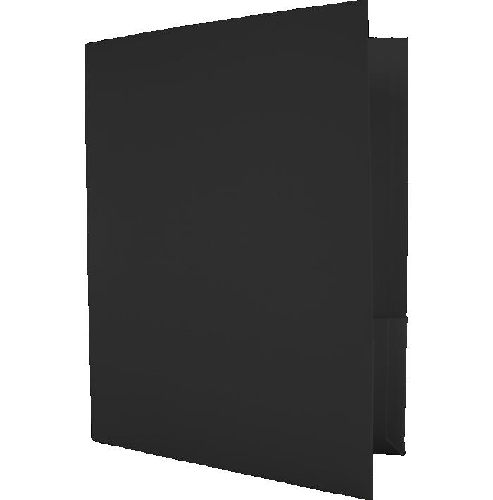 Capacity Folders (9 1/2 x 12) Black Linen