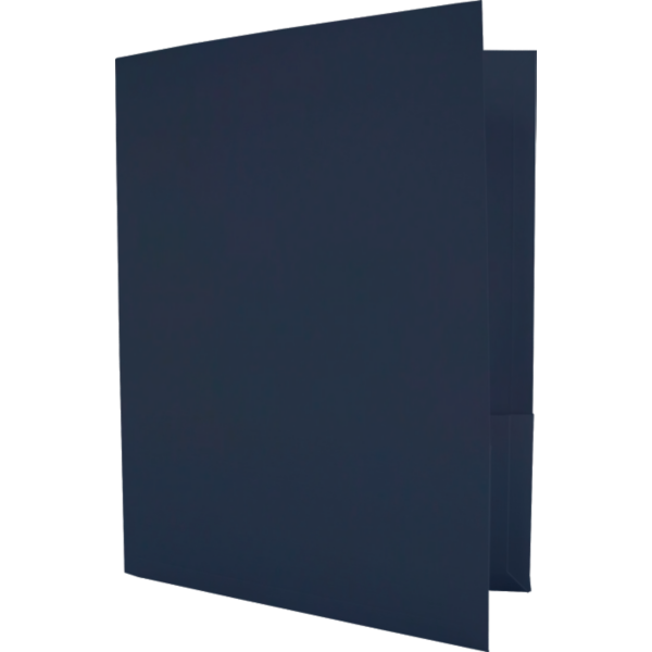 Capacity Folders (9 1/2 x 12) Dark Blue Linen