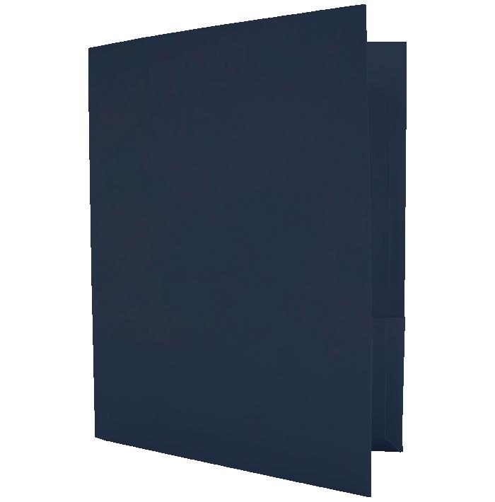 Capacity Folders (9 1/2 x 12) Nautical Blue Linen