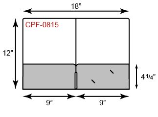 9 x 12 Presentation Folders - Continuous Pockets