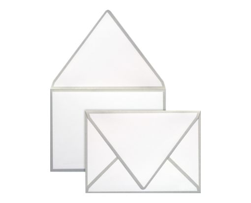 A1 Colorseams Envelopes (3 5/8 x 5 1/8) Silver Seam
