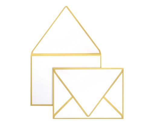 A1 Colorseams Envelopes (3 5/8 x 5 1/8) Gold Seam