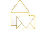 A7 Contour Flap Envelopes Gold Seam