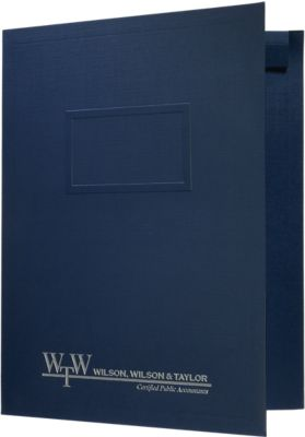 "9.5"" x 12"" CONFORMER Folders - Tax Folder One Pocket (Left) w/ Optional Window"