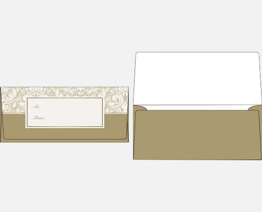Currency Envelopes (2 7/8 x 6 1/2) Gold Damask