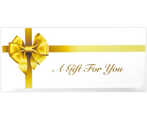 Currency Envelopes (2 7/8 x 6 1/2) Gold Bow