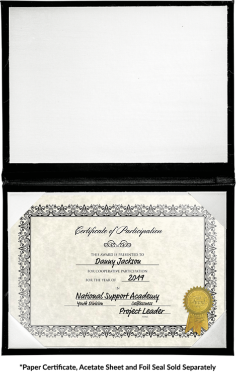 6 x 8 Diploma Cover - Padded Black