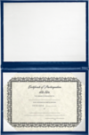 6 x 8 Diploma Cover - Padded Navy