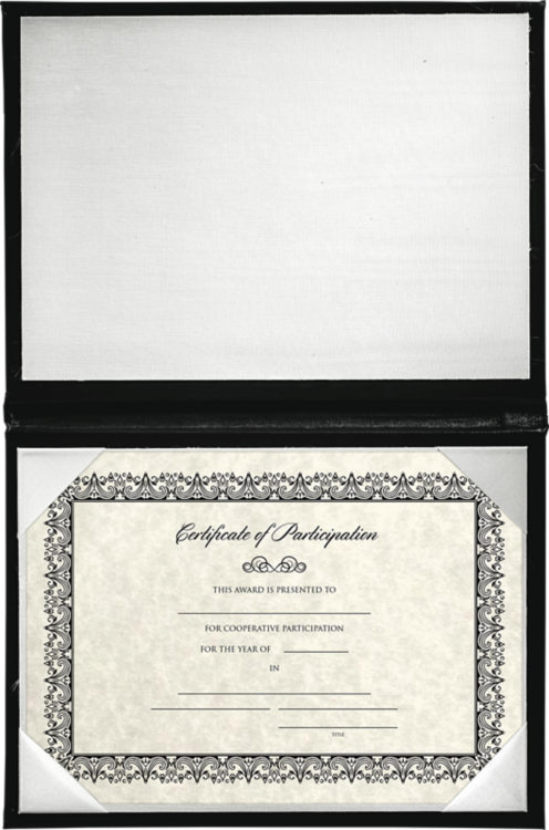 5 x 7 Diploma Cover - Padded Black