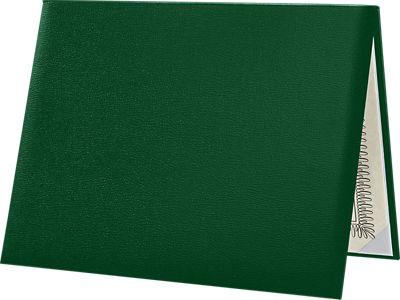 8 1/2 x 11 Diploma Cover - Padded Dark Green
